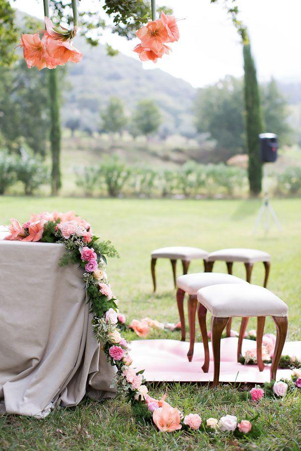 stunning ceremony floral decor