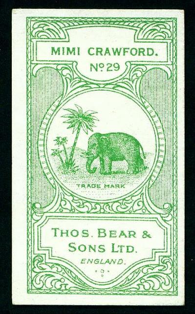 cigarette card, 1928