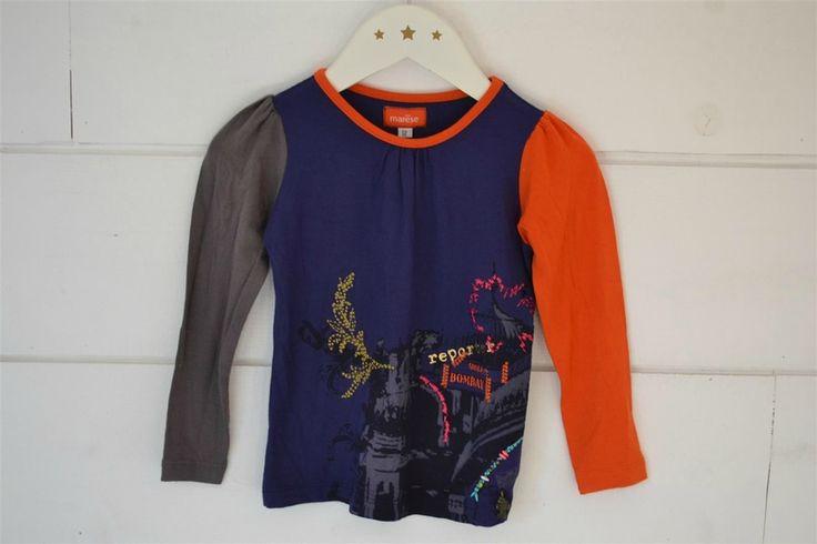 Tee-shirt en coton jersey brodé et imprimé Marèse - 2 Ans - Neuf