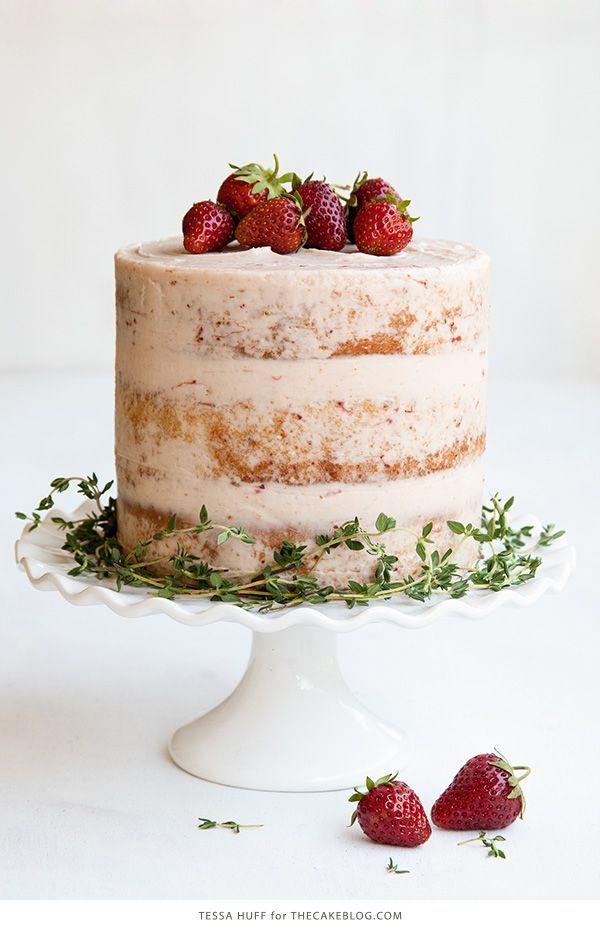 Strawberry Thyme Cake