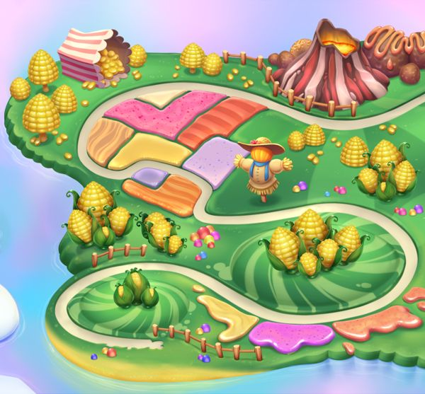 979 best images about game art on pinterest behance for Candyland wall mural