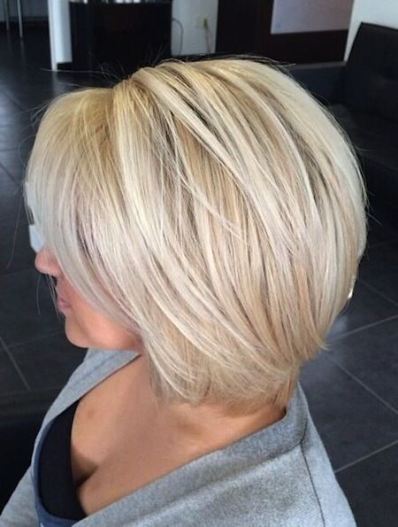 Go Platinum with Your Short Cut.  Lovely short bob haircut that looks fab in platinum.