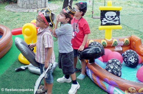 Decoraci n jard n fiesta infantil pirata ideas para for Decoracion fiesta jardin