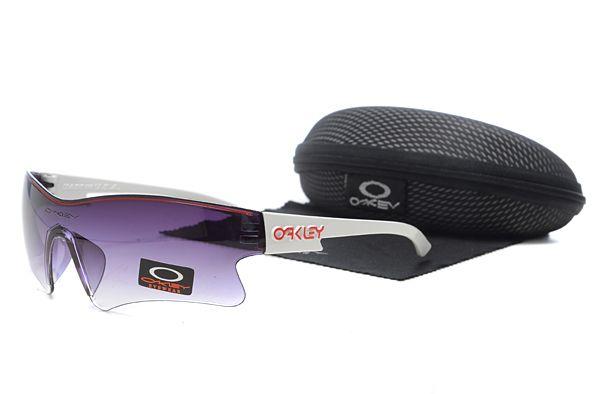 $12.99 Daily Deal Oakley M Frame Sunglasses White Frame Purple Lens www.sportsdealextreme.com