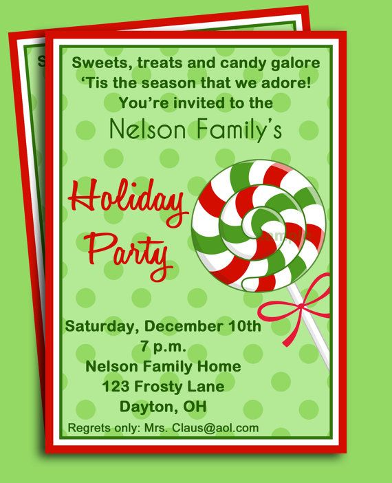 92 best Christmas Party Invitations images on Pinterest - family gathering invitation wording