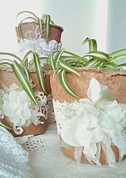 Торфяные горшочки, декор цветочных горшков