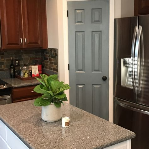 First time trying this. Milk painted pantry door for a nice vintage look that pops