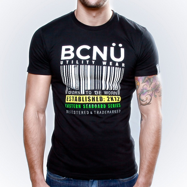 Supergravi-TEE Black  A trendy UtiliTEE with a bold design. Born To Be Worn this cool looking UtiliTEE comfortable and made from the highest quality cotton. www.bcnuclothing.com