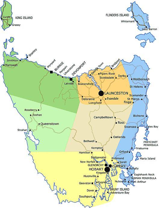 map tasmania google search