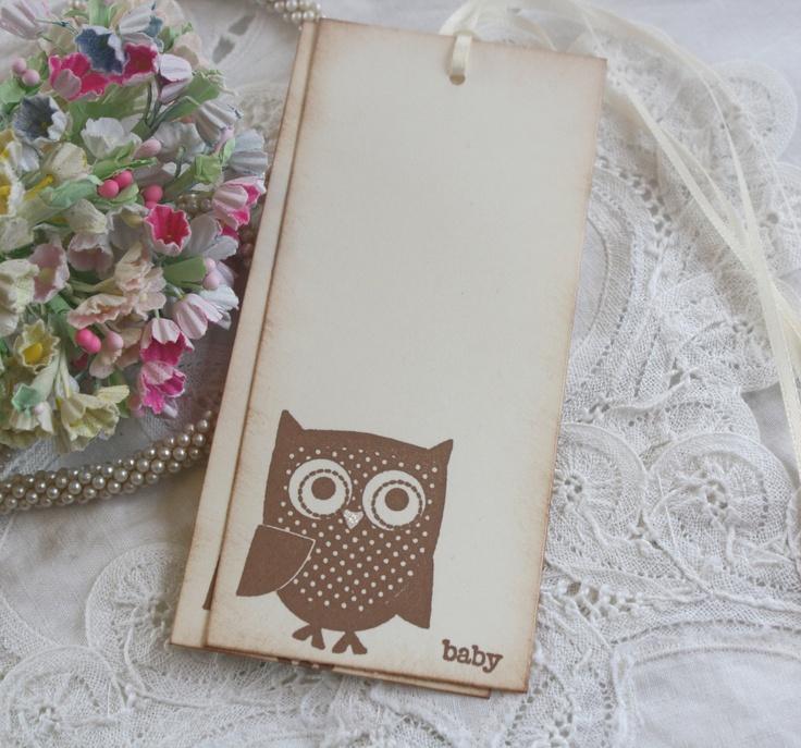 Baby Shower Wish Tree Tags - Owl - Baby - Birthday Wish Tags - Set of 12. $11.00, via Etsy.