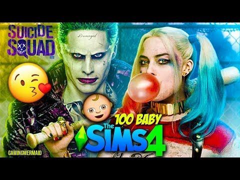 HARLEY QUINN AND JOKER | The Sims 4: 100 Baby Challenge Ep. 1 - YouTube