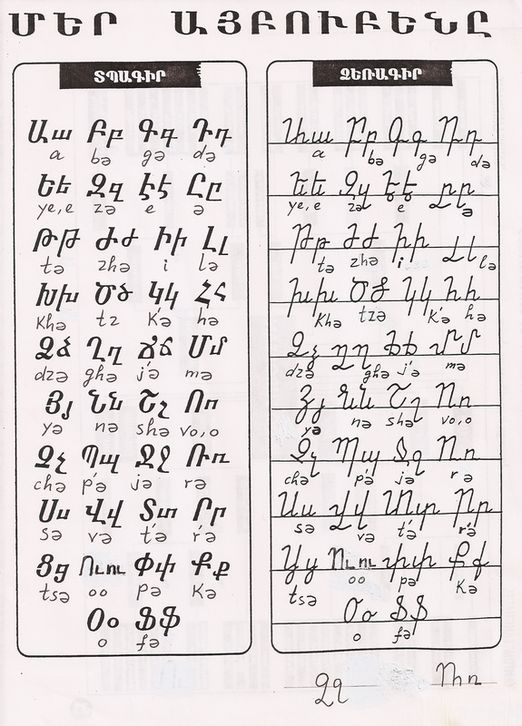 The Armenian alphabet was created in 405 AD.