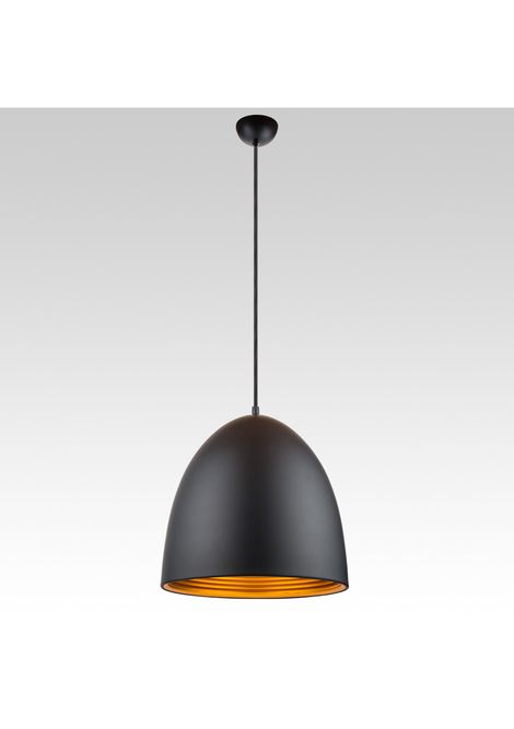 Dome Pendant - Tall (black/gold)
