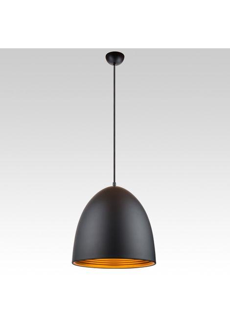Dome Pendant - Tall (black/gold)