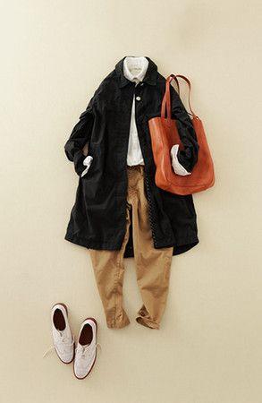 Elegant teacher style - trousers, flat shoes, autumn/spring style