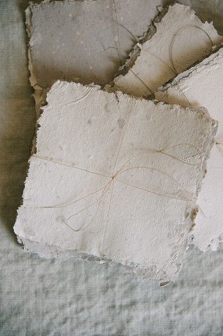 Recycled Handmade Paper. You can make your own paper from most paper mixed with found paper and leaves etc