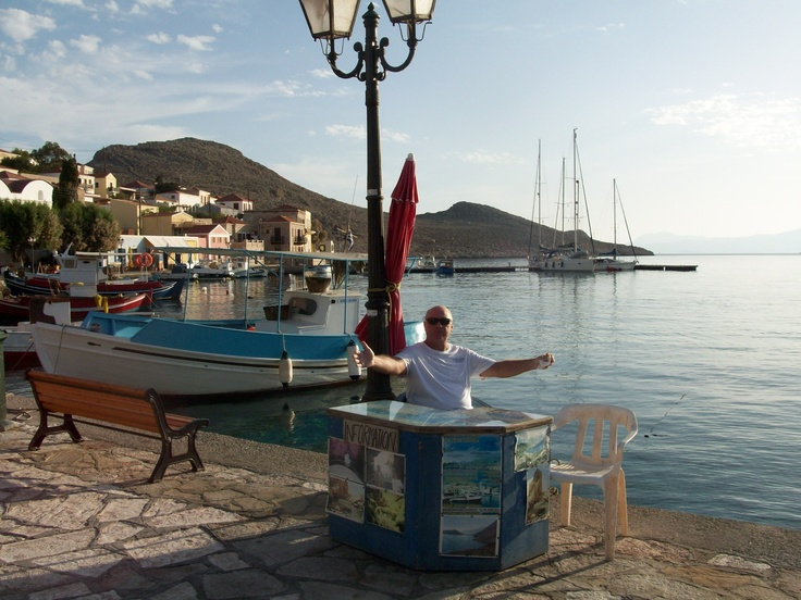 Only a handful of clients left on Halki for the season, no takers for the day's boat trip either!