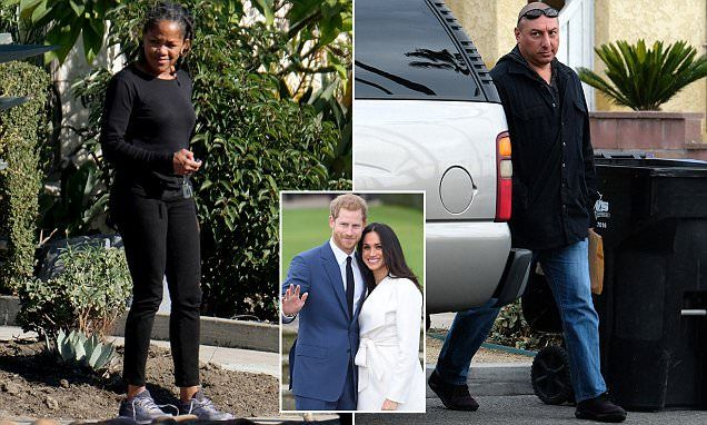 Doria Ragland, 61, was photographed exclusively by DailyMail.com outside her Windsor Hills home in Los Angeles this weekend ahead of her daughter Meghan's big announcement.