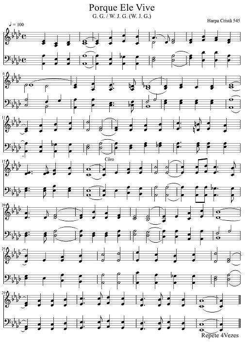partituras de hinos da harpa cristã para trompete - Pesquisa Google