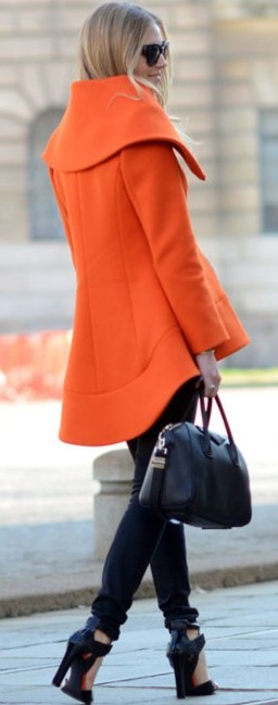 Love the shape of this coat and the colour but I suspect you wouldn't get that much use out of it.  Better to buy it in black or taupe.