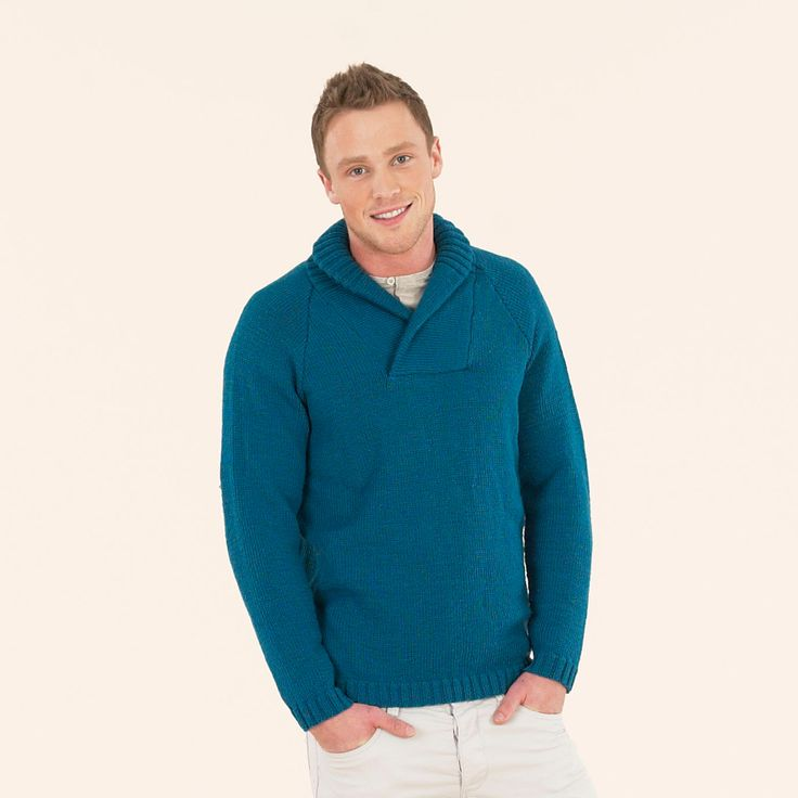 Casual weekend sweater from the seventh extra fine merino double knitting book
