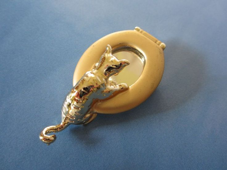 Vintage AJC Comical Cat on Commode Pin Brooch