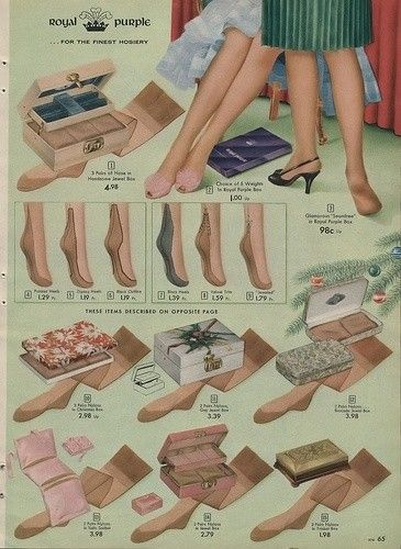 heels stockings ads