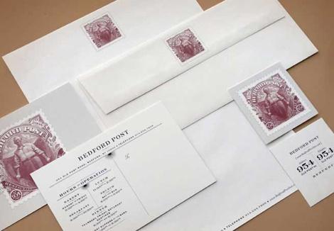 Postal stamp letterhead old time feel