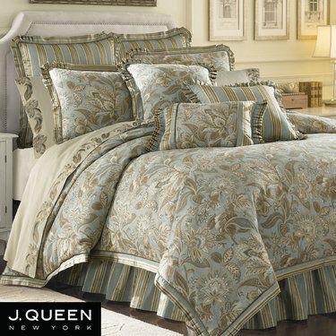Elegant Aqua Comforter Camilla Jacobean Comforter