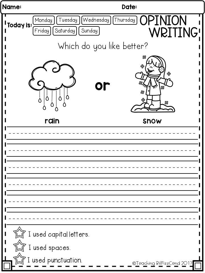 FREE Writing Opinion And Picture Prompts Awesome Writing Activities For First  Grade And S… Kindergarten Writing Prompts, Free Writing Prompts, First  Grade Writing