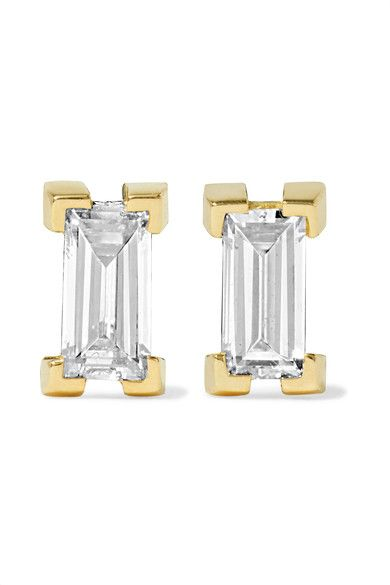 Ileana Makri - 18-karat Gold Diamond Earrings - one size