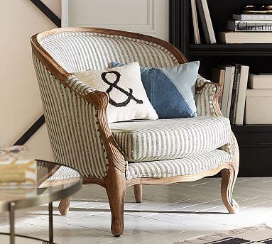The Emily Amp Meritt Bergere Upholstered Armchair Polyester