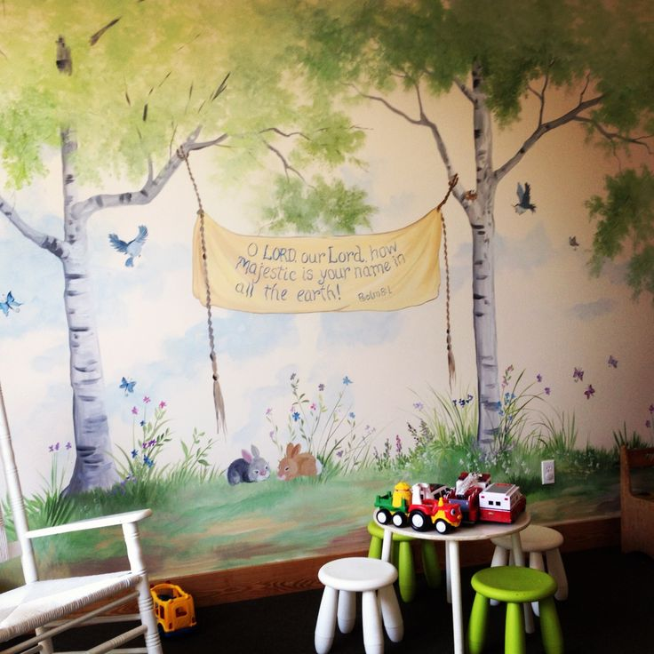 Delightful Sunday School Room Murals | New Murals In The Nurseries At Durham! Drop By  The Part 13