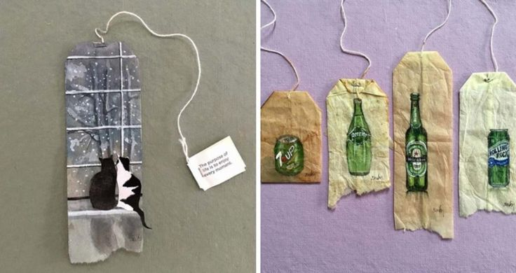 Back in 2015, Ruby Silvious started an art adventure like no other. She began a project named 363 Days of Tea where her recycled teabags were used to creat
