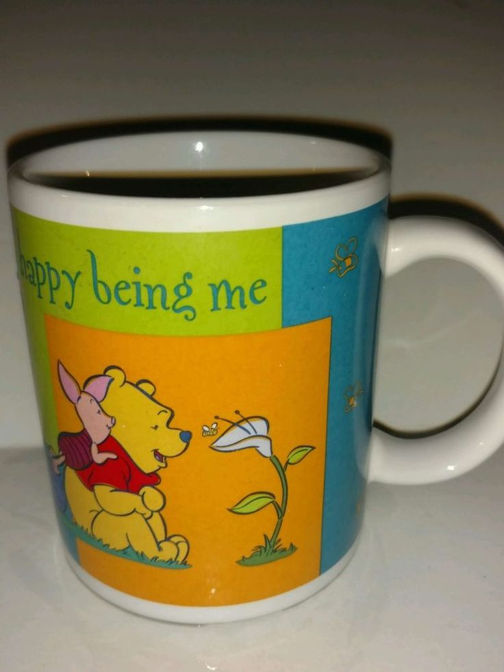Winnie the Pooh Piglet Walt Disney Coffee Mug Happy Being Me