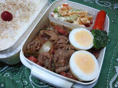 icerain12's Blog- 節約!お弁当男子- : 2014年2月23日 今日のお弁当は「ガーリックタップリの生姜焼きとマカロニサラダのお弁当」です❢