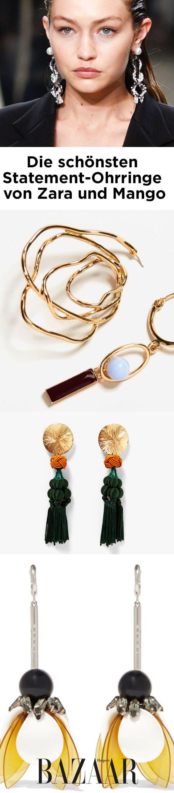 Trend Statement-Ohrringe: Harper's Bazaar zeigt die schönsten Modelle von Mango, Zara und Co. für den Herbst