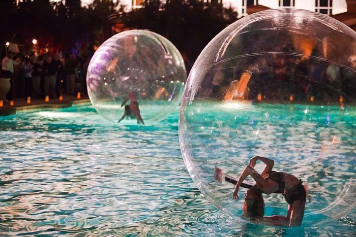 Fun Entertainment! Performers float on water.  Great for a corporate special event!