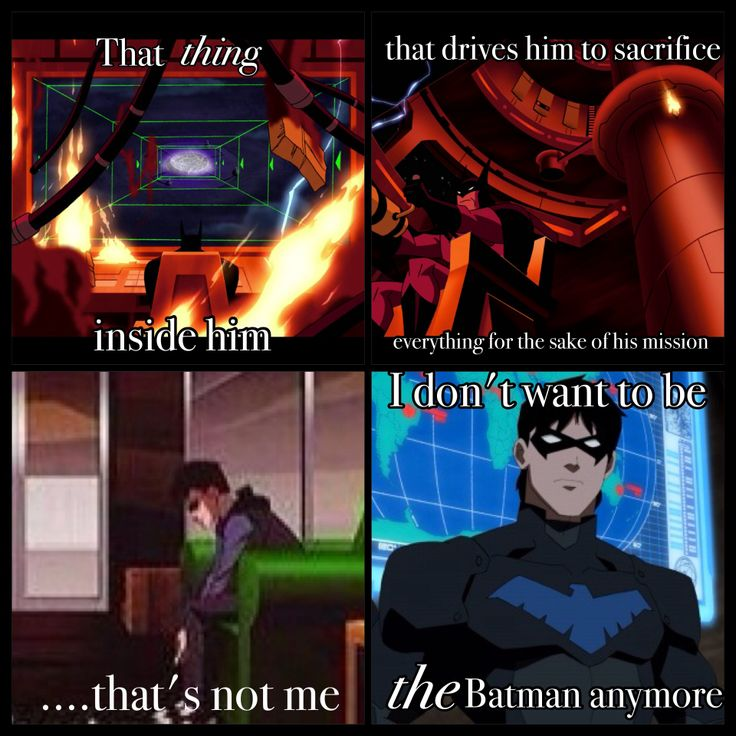 Batman almost sacrificing himself to save the world, in Justice League. It made me think of this quote from Young Justice