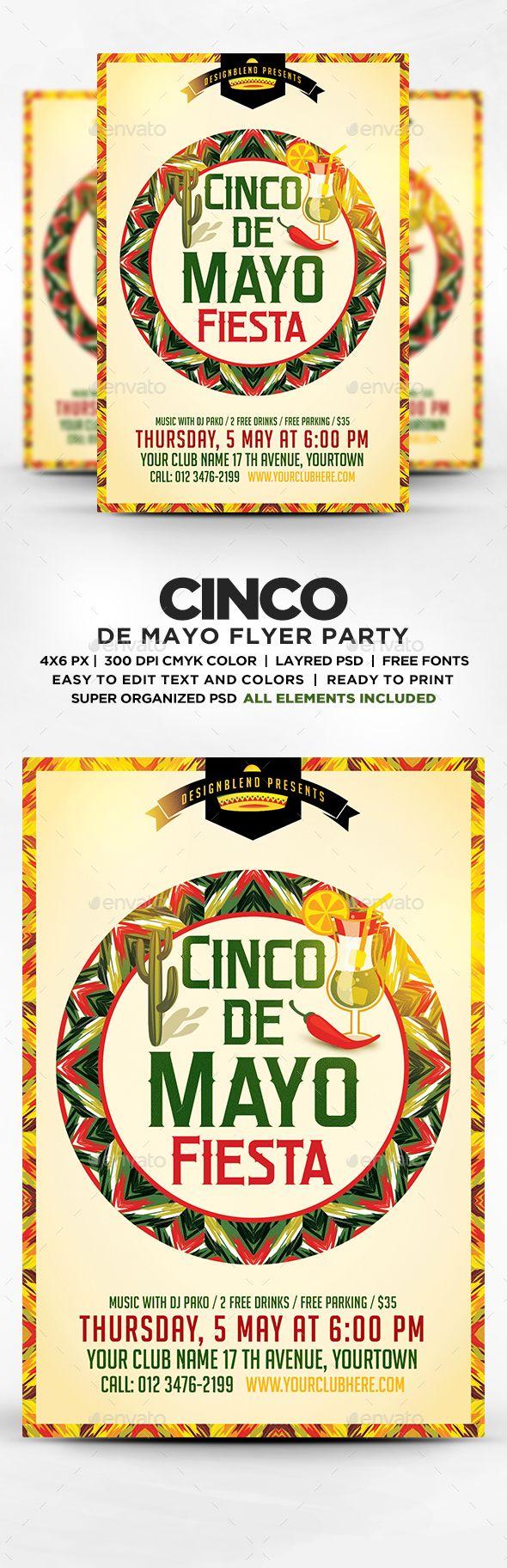Cinco De Mayo Celebration Flyer Template PSD. Download here: http://graphicriver.net/item/cinco-de-mayo-celebration-flyer-template-psd/15903804?ref=ksioks