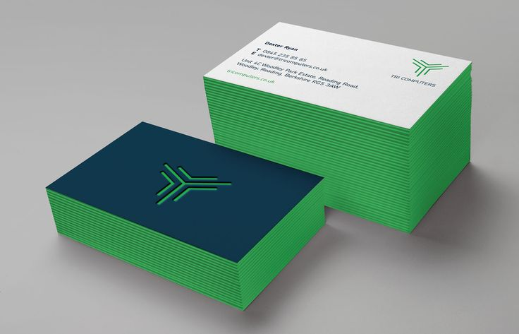 Painted edge business card concept with debossed logo. Designed by Theme.