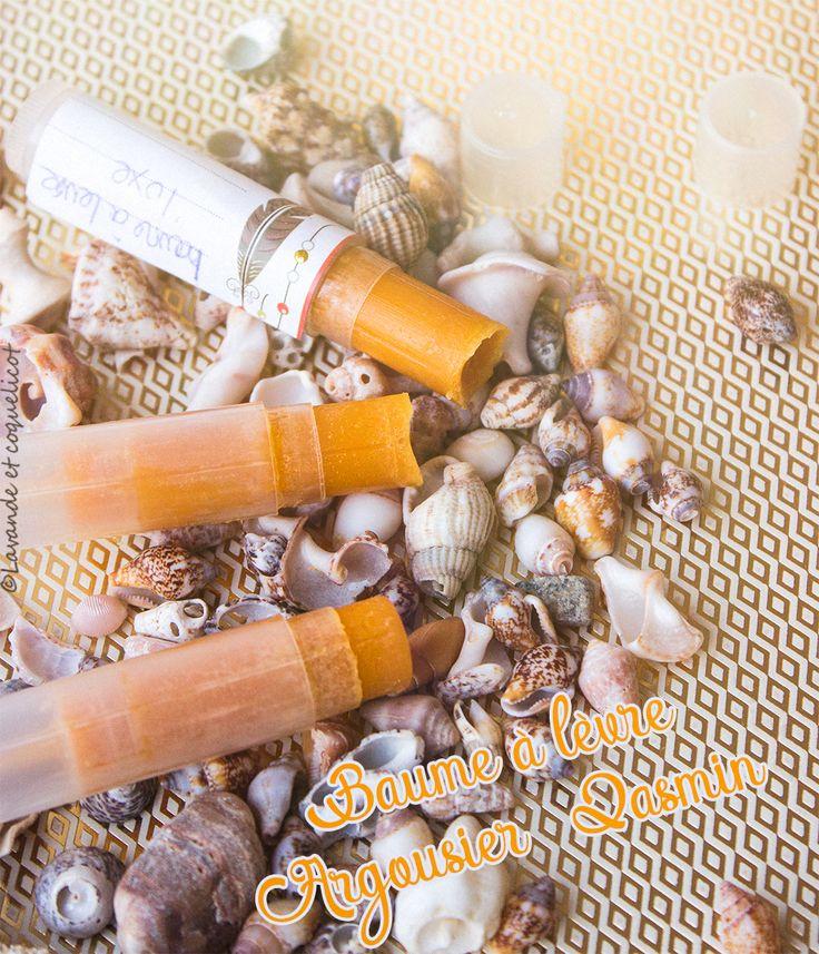 diy recette baume à levre nourissant reparateur argousier beurre de cacao cire de jasmin lavande et coquelicot
