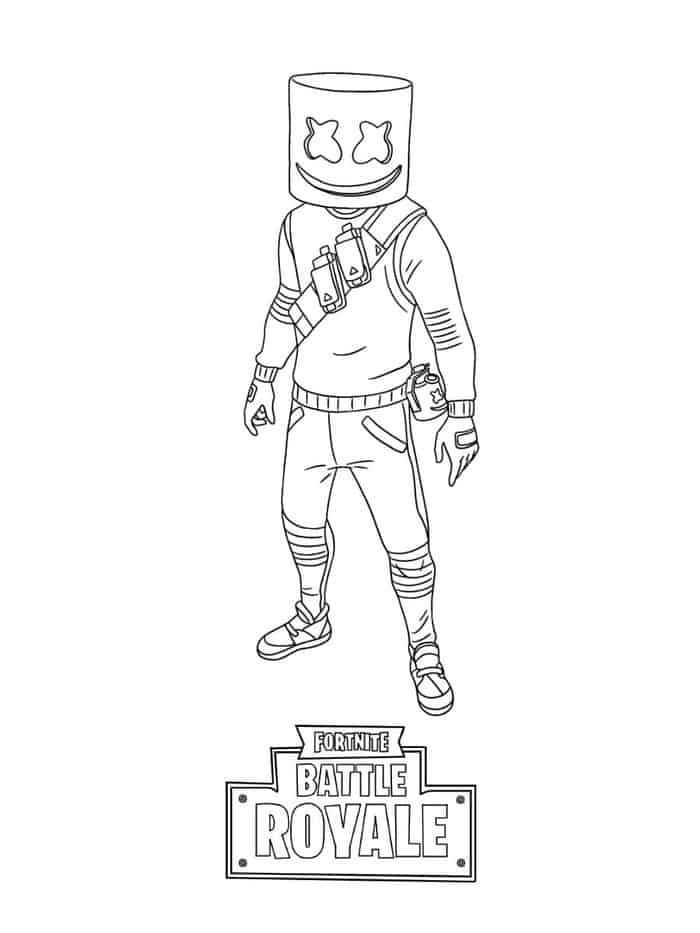 Fortnite Coloring Pages Marshmello En 2020 Con Imagenes