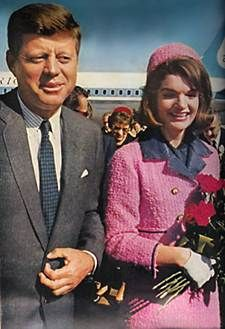 President JFK and First Lady Jackie Kennedy on the day he died