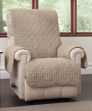 Another great find on #zulily! Natural Puff Wingback/Recliner Cover #zulilyfinds