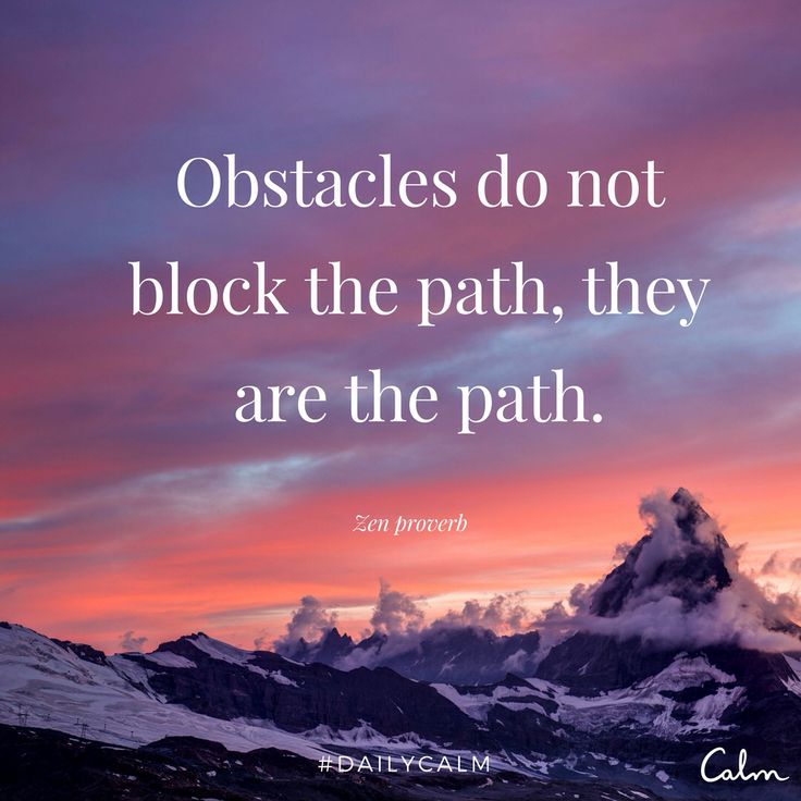 Obstacles do not block the path, they are the path.