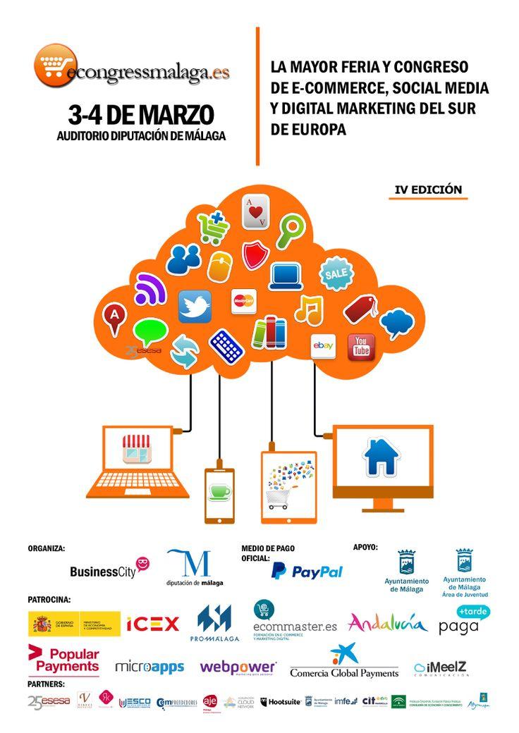 Econgress Málaga 2016, evento líder sobre e-commerce, Social Media y Marketing Digital