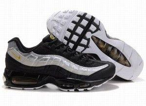 nike air max 95 für herren sneakers schwarz silber gold
