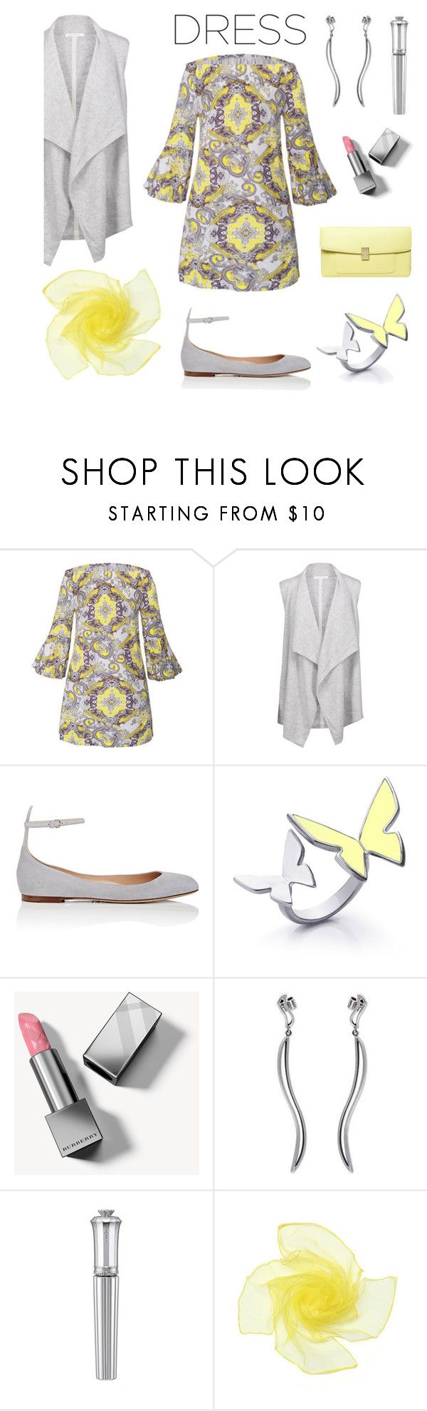"""""""Off-shoulder dress"""" by kenga08 ❤ liked on Polyvore featuring WithChic, Duffy, Valentino, Burberry, NOVICA, Morgan Lane, Dorothy Perkins and offshoulderdress"""
