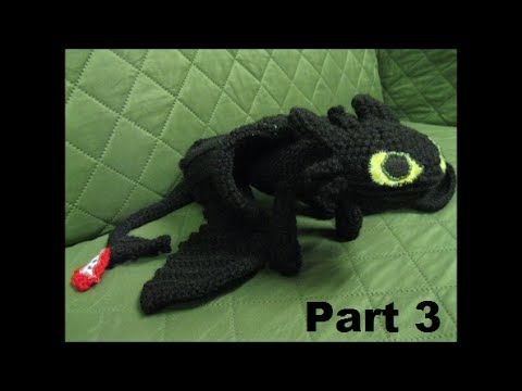 How To Crochet Toothless Part 1 - YouTube